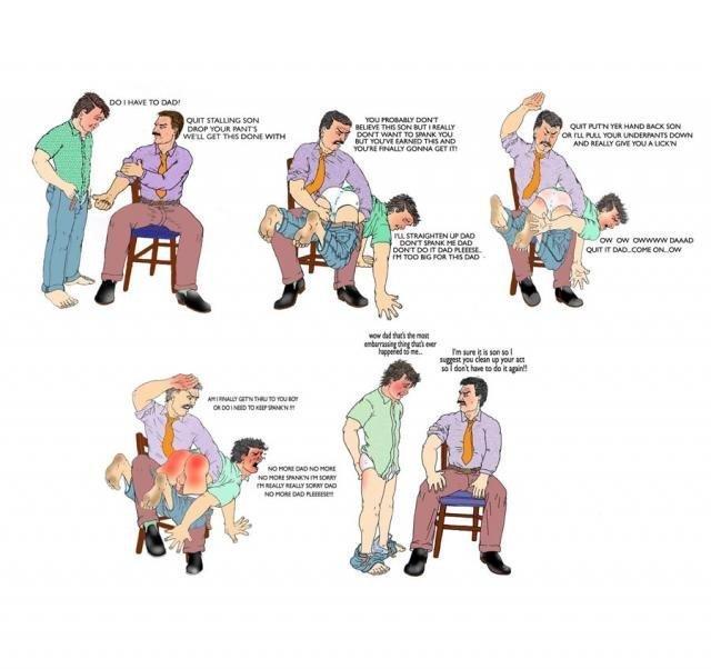 Cartoon Dad Son Spanking Ordeal